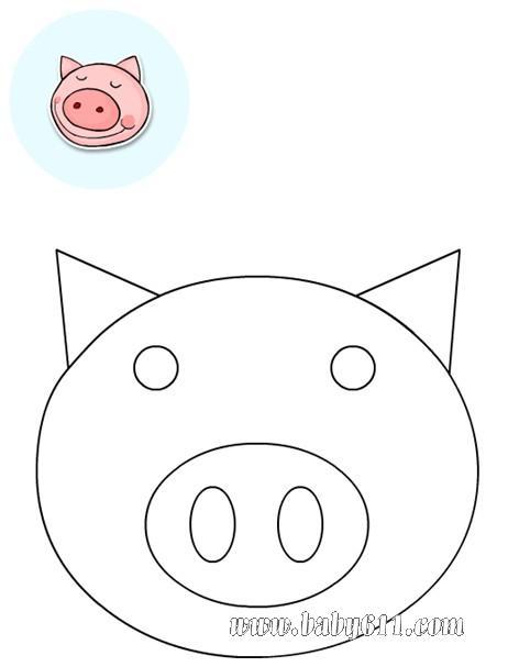 猪头图片可爱手绘